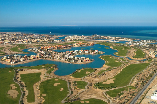 Helicopter View El Gouna
